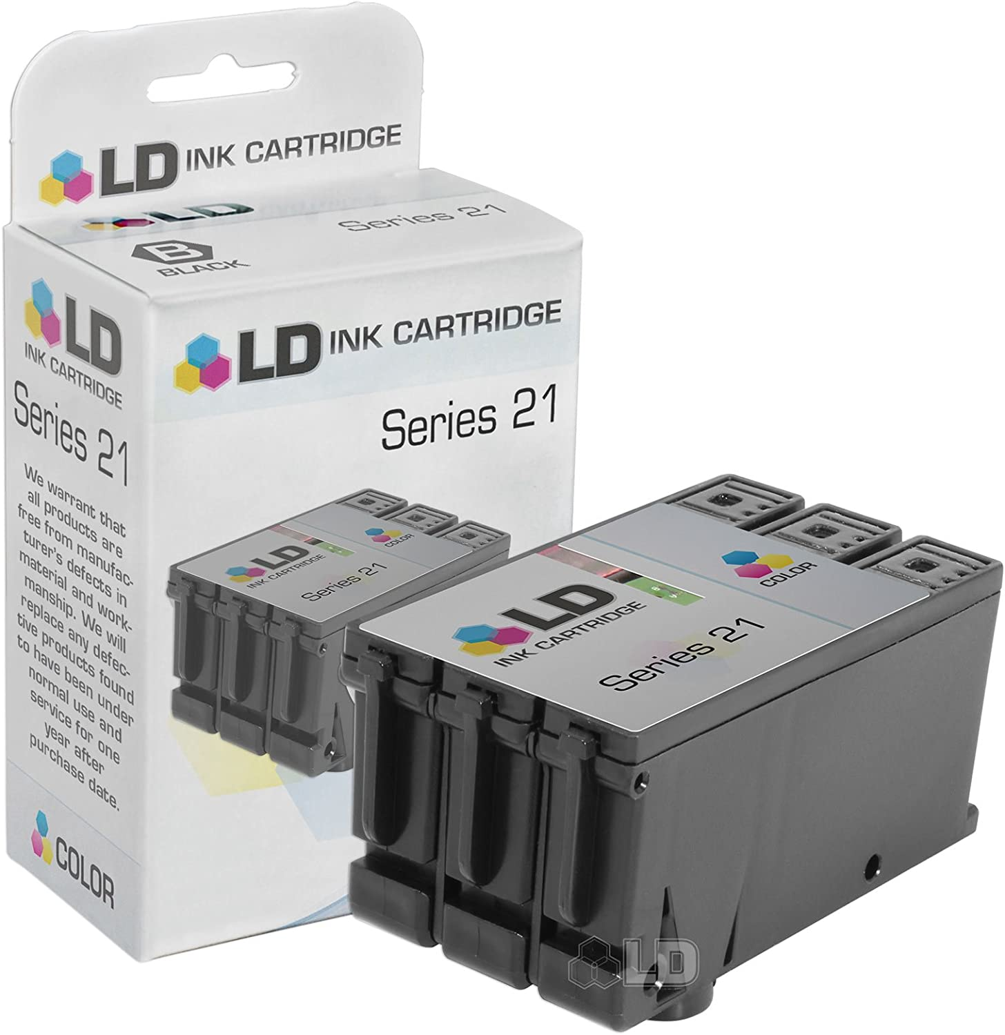 LD Compatible Ink Cartridge Replacement for Dell Y499D 330-5274 Series 21 (Color)