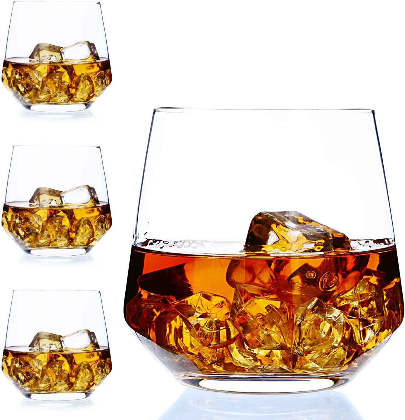 Amazon Com Whiskey Glass Set Of 4 By Amallino Old Fashioned Glass 14oz As Rocks Glasses Old Fashioned Glasses