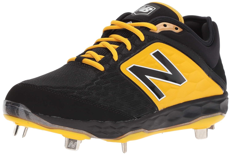 New Balance B075R7LCF2 8.5 2E US|ブラック/イエロー ブラック/イエロー 8.5 2E US