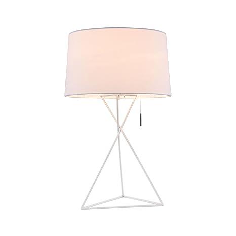 schliche moderna lámpara de mesa, estructura de metal ...
