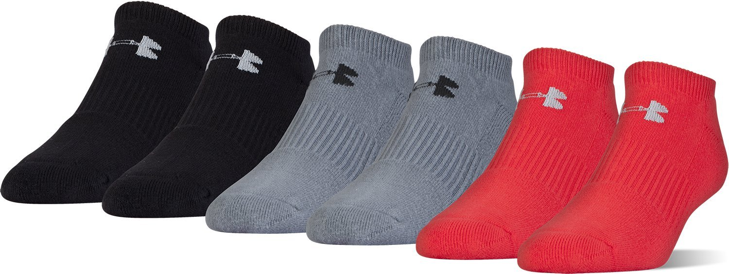 Under Armour Youth Charged Cotton 2.0 No Show (6 Pack) Under Armour Socks 2023888