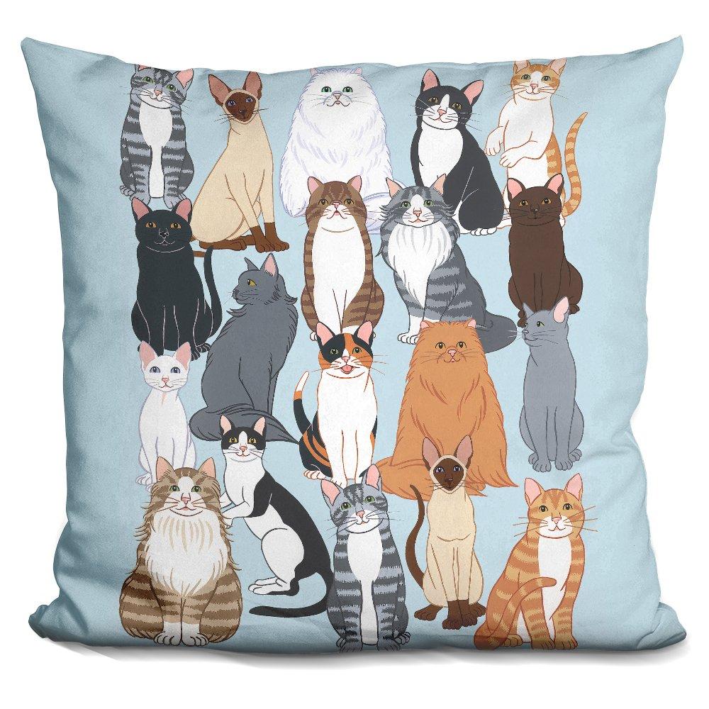 LiLiPiCat Pattern 1 Decorative Accent Throw Pillow