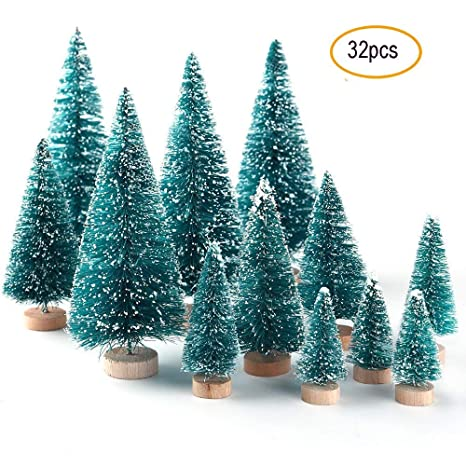 Amazon.com: Mini Sisal árbol de Navidad, 24 piezas ...