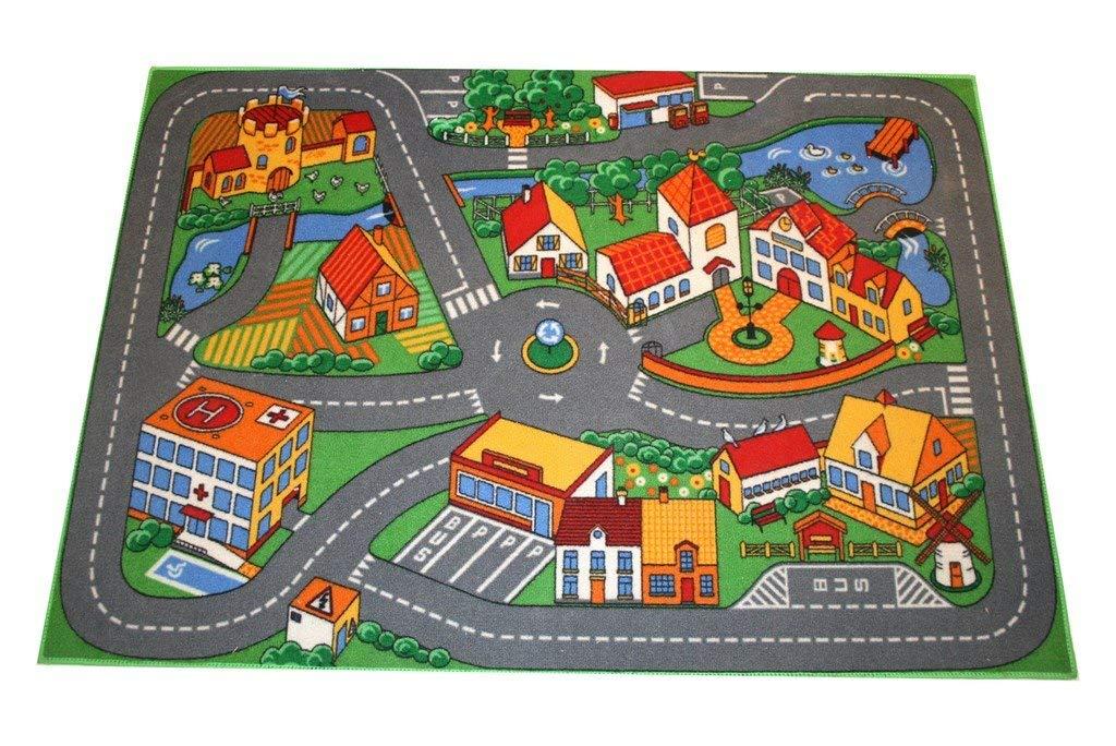 Associated Weavers Alfombra con diseño Quiet Town, Acrílico, Gris y Verde, 100 x