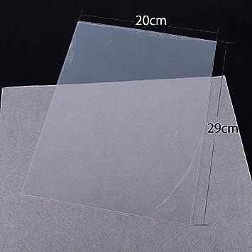 Loirsir Creatif 29mm x 20mm x 0.3mm 10pcs Thermor/étractable Transparent Papier 10 Feuilles A4 Plastique Thermor/étractable Transparent Papier Shrink Paper pour Fabriquer Porte-cl/é Pendentifs