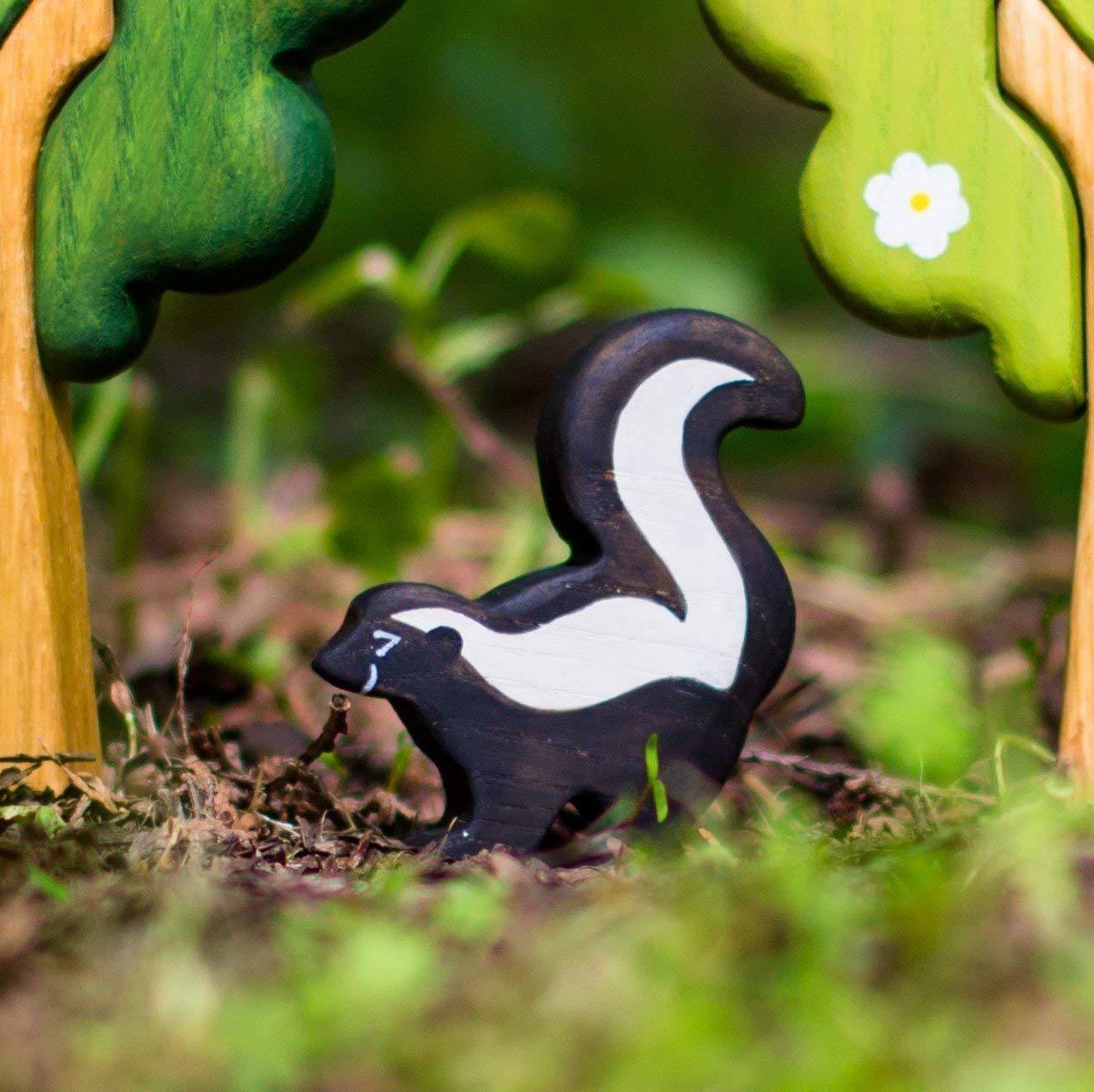 Handmade Wood Toy Animal Skunk