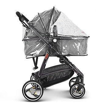 besrey Carrito bebé 2 en 1 Cochecito Deportivo (Max.15 kg, 0-3 años) Ruedas PU Extra Resistente con Cubierta de lluvia Gratis -Gris: Amazon.es: Bebé