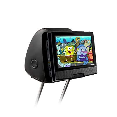 Qenker portable dvd player headrest mount for swivel and flip style portable DVD player from 7 to 11 inch - black: Beauty