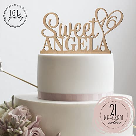 Amazoncom Personalized Sweet Sixteen Cake Topper 16th Birthday