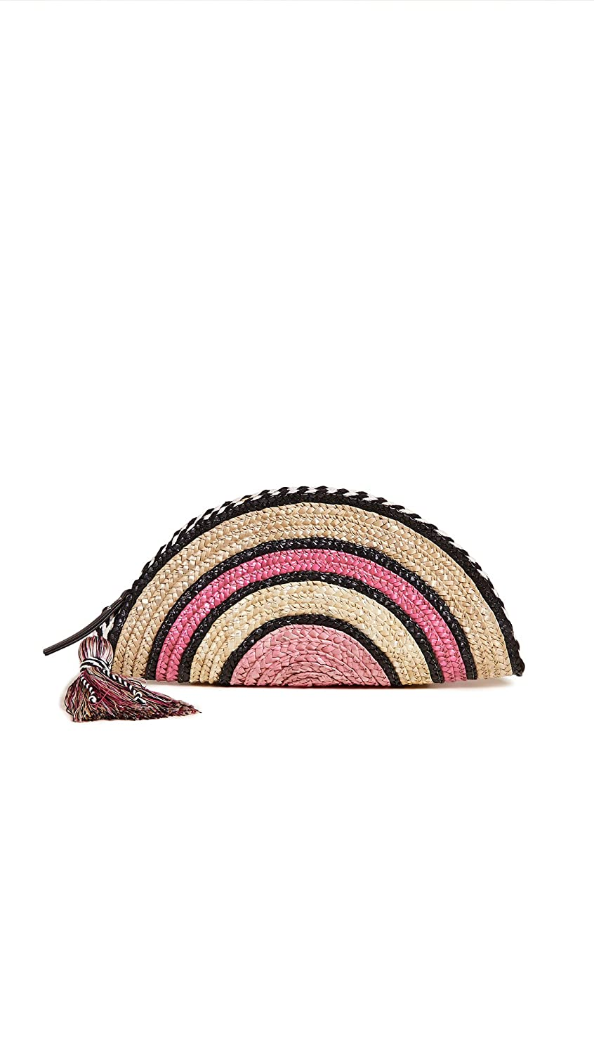 Rebecca Minkoff Women's Straw Taco Clutch Blue Multi One Size Rebecca Minkoff-Non Apparel