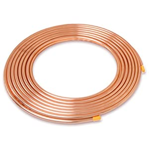 """1/4 in """". x 50 ft. Copper Soft Type Refrigeration Pipe/Tubing"""