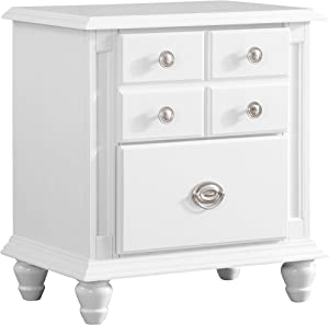 "Glory Furniture Night Stand, 27"" H x 24"" W x 16"" D, White"