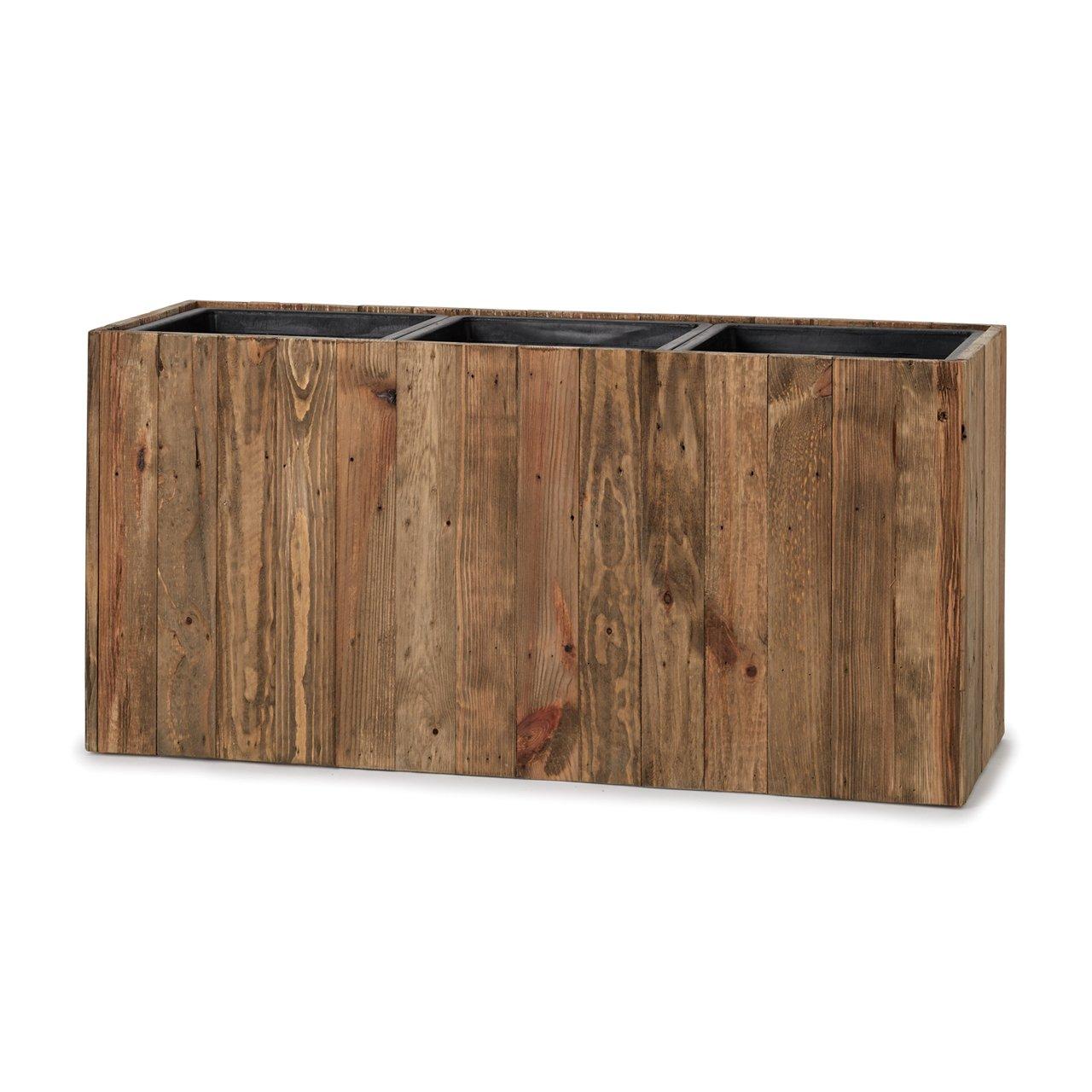 植木鉢 大型中型 リサイクルウッド レクト(樹脂インナー付) L 93 B07DJ3Z4J2   L 93
