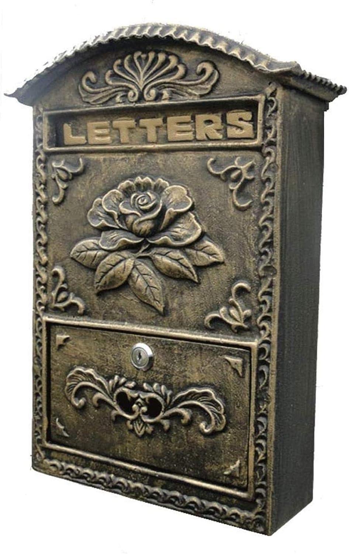 Buzones Hierro Forjado Letter Box Adorno de Hierro Fundido Crafts Verde Oscuro
