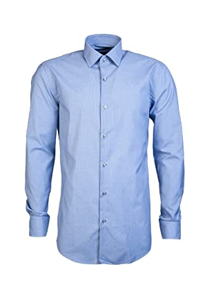 e49a9a621 Amazon.com: Hugo Boss Mens Smart Shirt JERRIS 50380206 Size 41 Blue ...