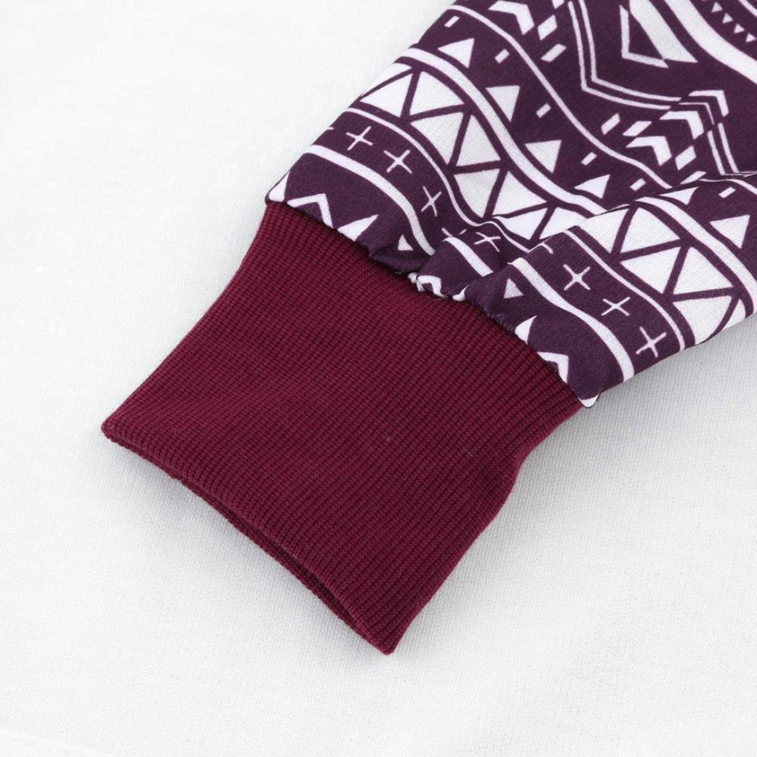 Keepwin Damen Elegant Kapuzenpullover Langarm Drawstring Hoodies Klassisch Drucken Patchwork Casual Pullover Sweatshirt Bluse Oberteile