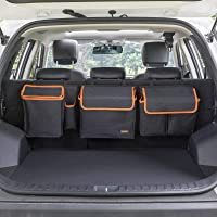 MARKSIGN Deluxe Trunk and Backseat Organizer, Detachable Storage Modules with Built-in Cooler