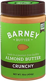 product image for BARNEY Almond Butter, Crunchy, Paleo Friendly, KETO, Non-GMO, Skin-Free, 16 Ounce