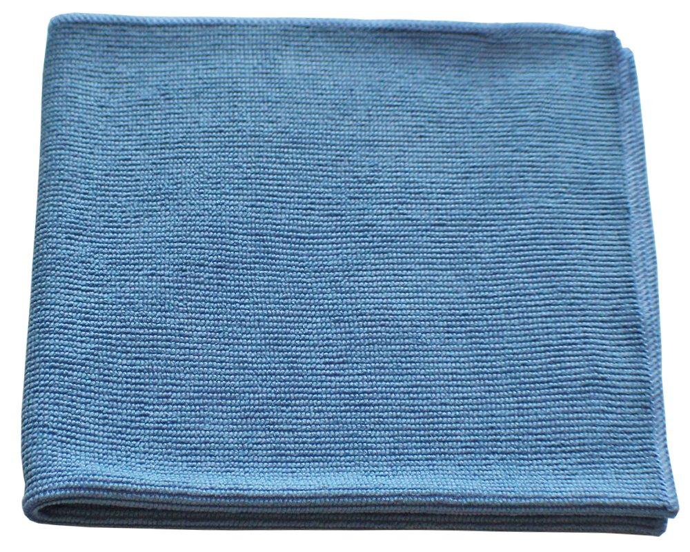 マイクロファイバーテクスチャードガラスクリーニングクロス 16x16 - ブルー 12パック B0786R6WCQ