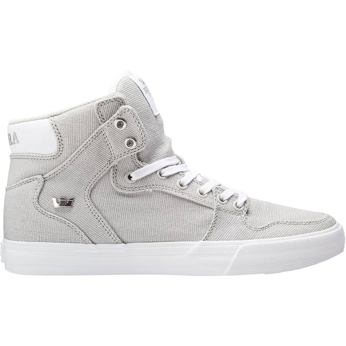 Supra Vaider Skate Shoe B07FX76J9Y 12 M US|Cool Grey/Silver-white