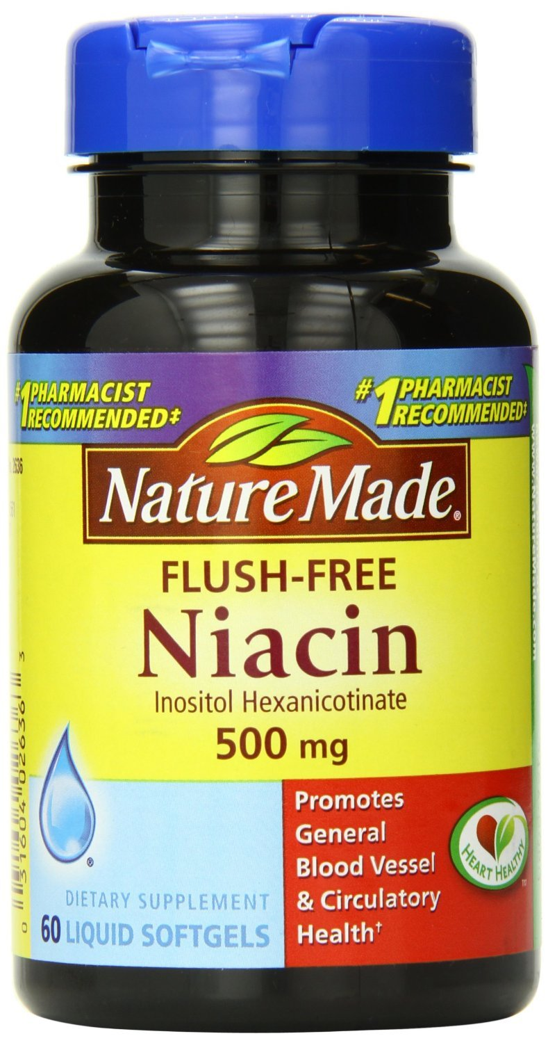 Nature Made Niacin 500mg Flush Free 60ct Softgels 3 Pack