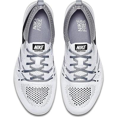 the latest 98fad 41ffc Amazon.com   Nike Free Tr Focus Flyknit Womens Cross Training Shoe (6.5  B(M) US, White Black-Wolf Grey)   Road Running