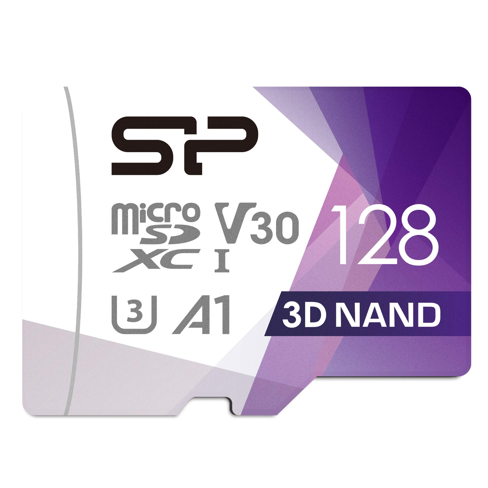Silicon Power 128GB R/W up to 100/ 80MB/s Superior Pro Micro SDXC UHS-I (U3), V30 4K A1, High Speed MicroSD Card with Adapter by SP Silicon Power