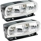 HELLA Optilux H71010321 Model 2020 12V Black Dual Beam Halogen Fog/Driving Lamp Kit