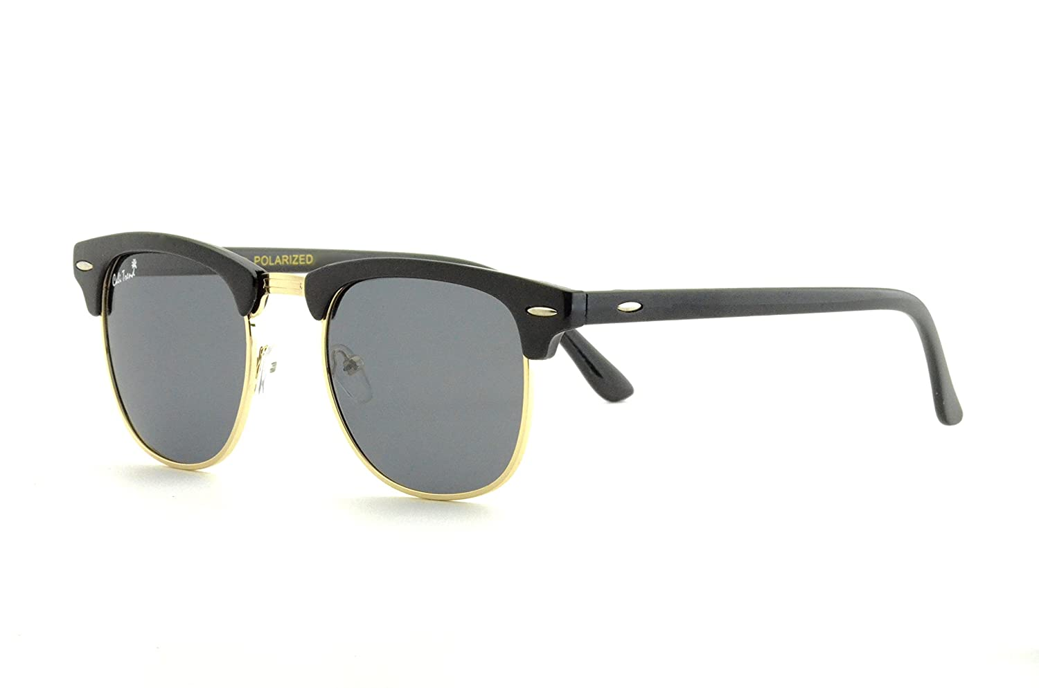 a081024d89e Amazon.com  Polarized Half Frame Sunglasses - Clubmaster Style - Cool
