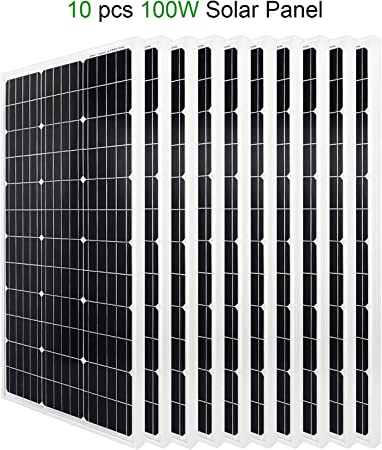 Eco Worthy 1kw Solar Pv System 10pcs 100 Watt 12 Volt Monocrystalline Photovoltaic Solar Panel For Solar System Amazon Co Uk Garden Outdoors