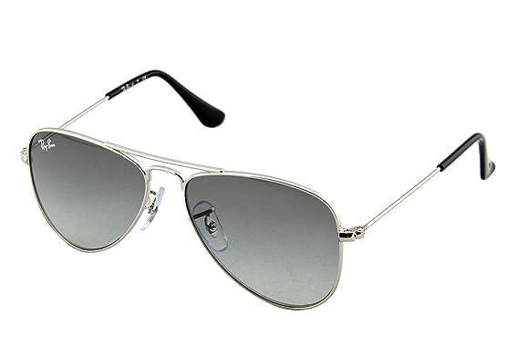 7ffb2b2fcaa Amazon.com  Ray-Ban Jr. Kids Aviator Kids Sunglasses (RJ9506) Silver ...