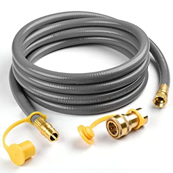 "Madol 3/8"" QDD+NG Gas Hose 12 Long Quick Disconnect Low"