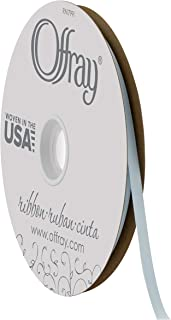 "product image for Offray 1/4"" Wide Double Face Satin Ribbon, 100 Yards, Light Blue"