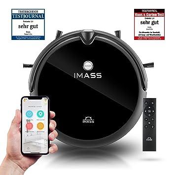 Robot aspirador de IMASS con función friegasuelos A3S Perfect Clean: robot aspirador eléctrico y robot friegasuelos ...