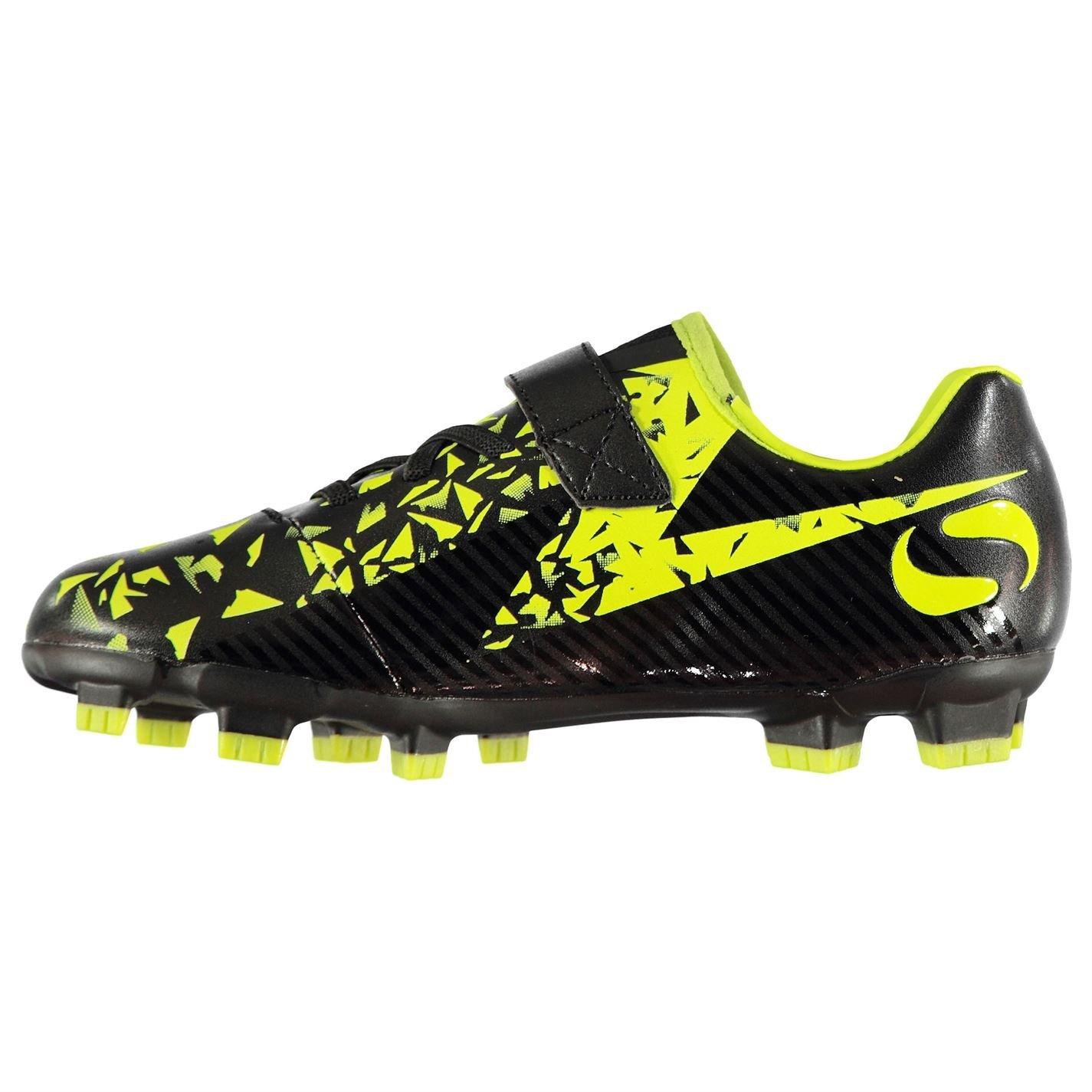 Sondico Boys Gaelic Firm Ground Football Boots Black Lime UK 2 (34)  Amazon. co.uk  Shoes   Bags 5363b4aaa39