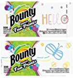 Bounty Prints Quilted Napkins, 2 Packs of 220 Count, 440 Total Count (Designs May Vary)