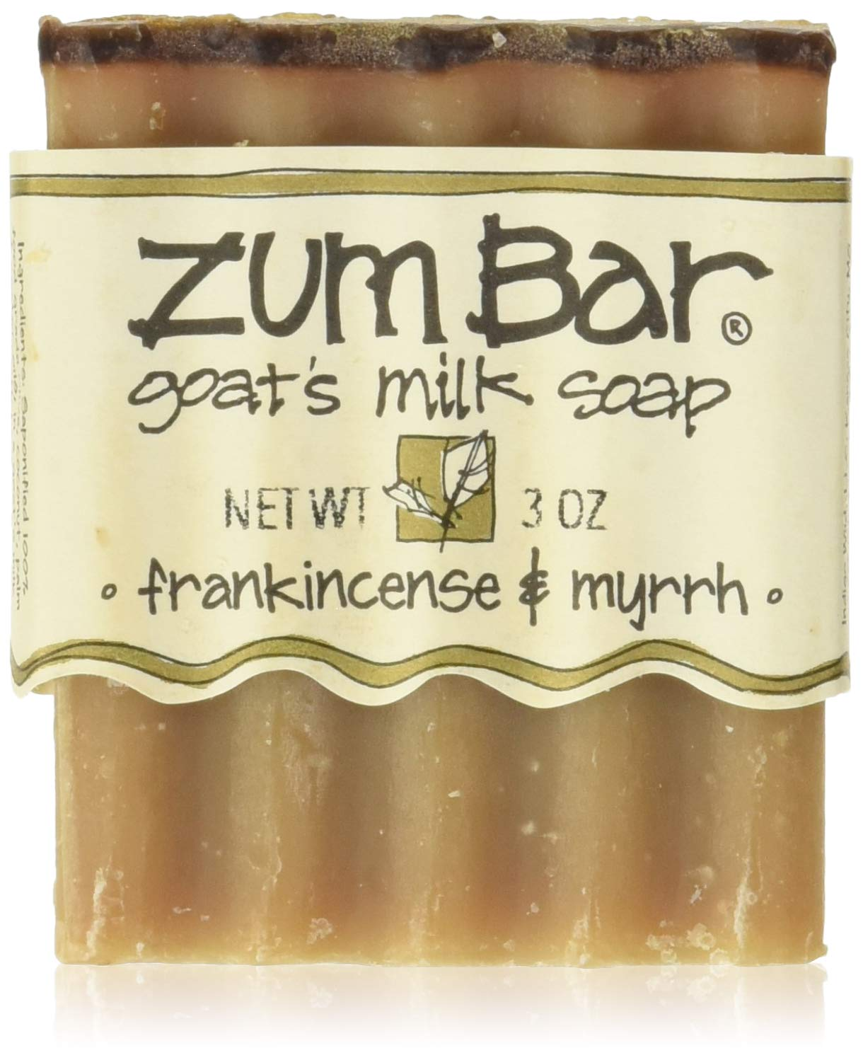 ZUM Frankincense and Myrrh Soap Bar, 3 OZ