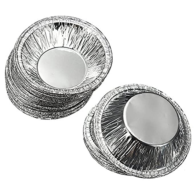 Amazon.com: 250 Pcs Disposable Kitchen Baking Circular Egg Tart Tins Cake Cups Mould Makers Cake Cups Foil Tart Pie Pans (Silver): Kitchen & Dining