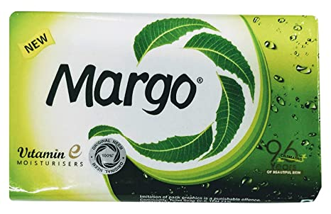 Bath & Body Margo Neem Soap Anti Bacterial Power Bar Soap 5 Bars Original Neem 75 Gm Each