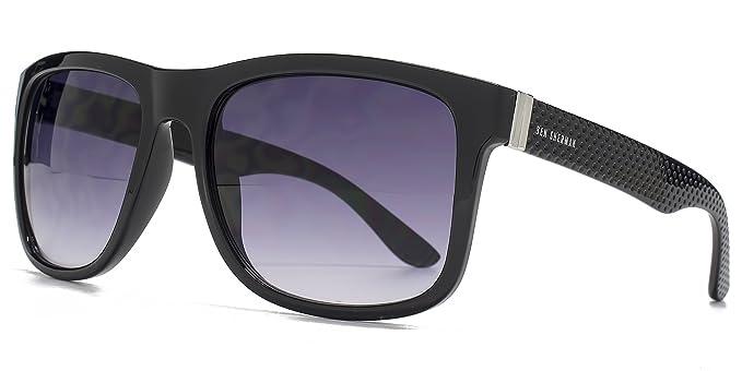 Ben Sherman Texturierte Tempel Kunststoff-Sonnenbrille in schwarz BEN001 One Size Gradient Grey jv0ZNDOrMb