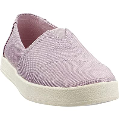 656c491fee1 TOMS Womens Avalon Slip On Dark Olive Patent Linen  Amazon.co.uk ...