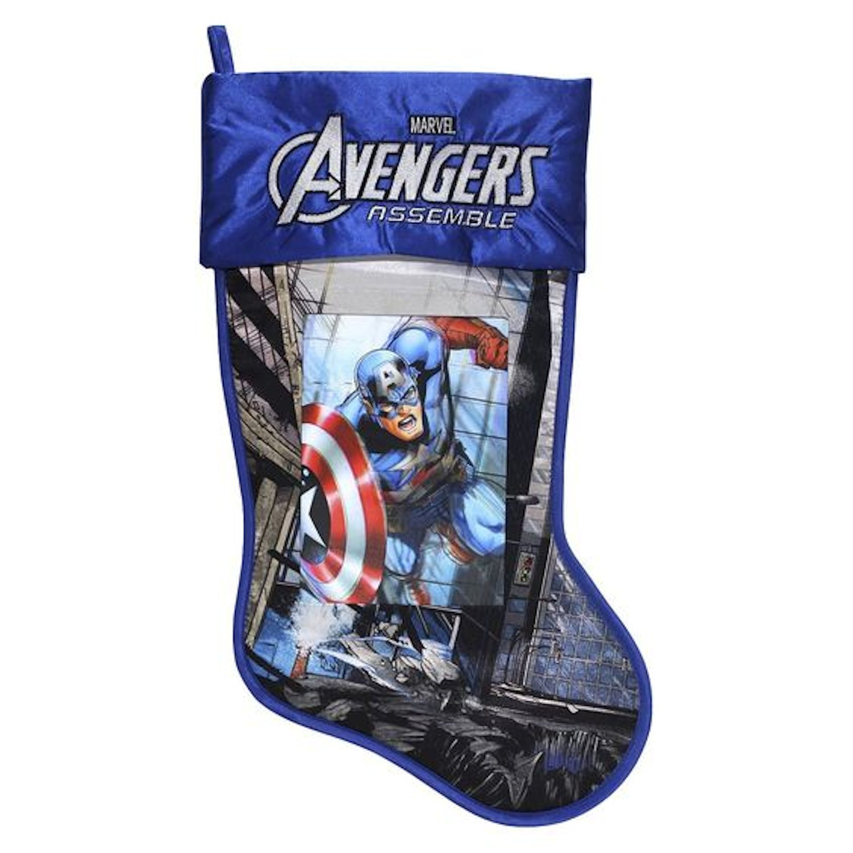 Marvel Avengers Captain America 17.5'' Christmas Stocking With Lenticular Image by Marvel