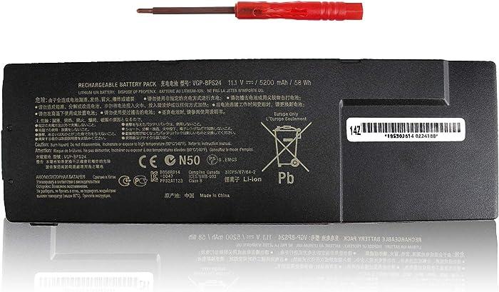 VGP-BPS24 Laptop Battery Compatible with Sony VAIO SA SB SC SD SE VPCSA VPCSB VPCSC Series VPCSC1AFM VPCSA3AFX SVS1512DCXB PCG-41217L VPCSD-113T PCG-41215T PCG-41217T VGP-BPL24 VGP-BPSC24 - Shareway