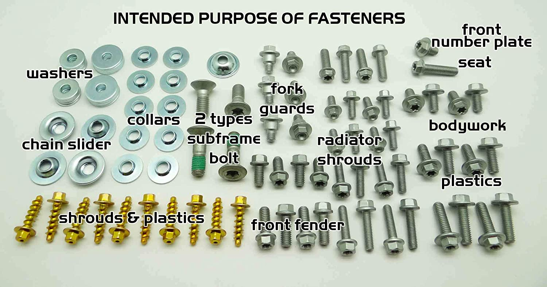 ALL KTM /& HUSQVARNA OFF ROAD MODELS Specbolt EURO Plastics Body Fastener Hardware Bolt Kit Fits