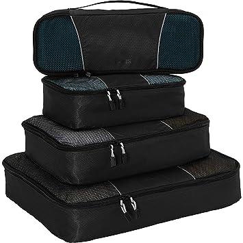 5657c9764441 eBags Classic Packing Cubes for Travel - 4pc Classic Plus Set - (Black)