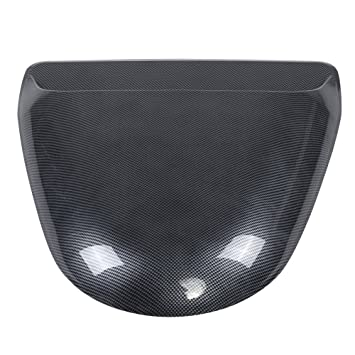 Wonderful Qiilu Universal Car Dekorative Kohlefaser Look Air Flow Intake Scoop  Motorhaube Vent Abdeckung Haube
