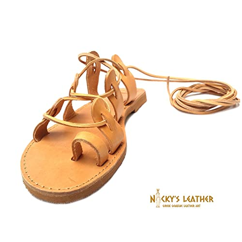 eeb196585f1 Amazon.com  LEATHER SANDALS Gladiator Sandals From Real Full Grain Leather   Handmade