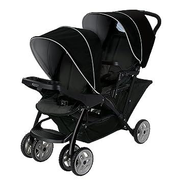Graco Duo Click Connect - Silla de paseo doble, color gris y negro: Amazon.es: Bebé