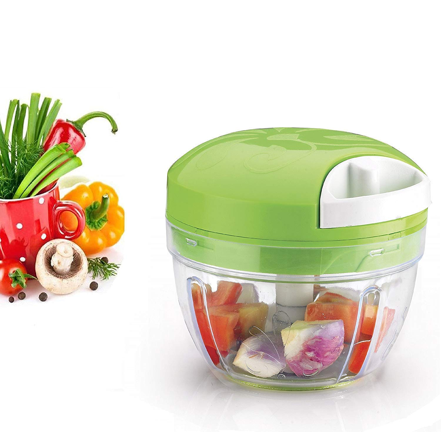 Vegetable Spin Cutter Fast and Efficient All in 1