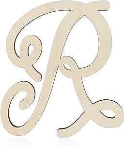 Wooden Monogram Alphabet Letters, Decorative Letter R (13 Inches)